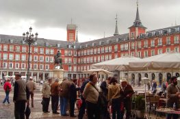 Plaza Mayor, Madrid coin and stamp market
