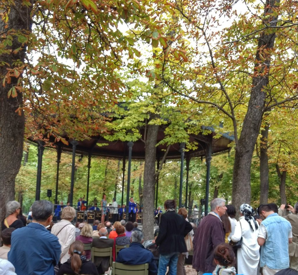 bandstand in park trees Jardin du Luxembourg