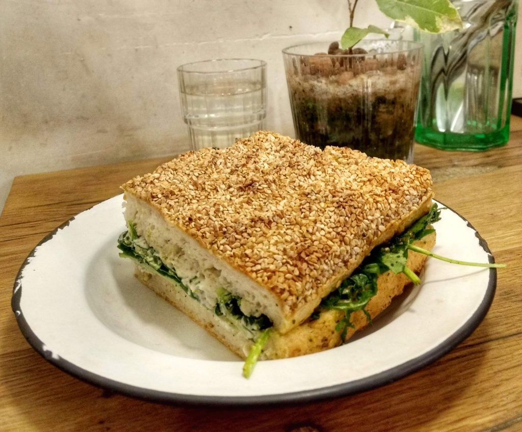 vegan gluten free sandwich Paris