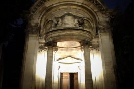 portico of 18th century Saint-Ephrem church Paris