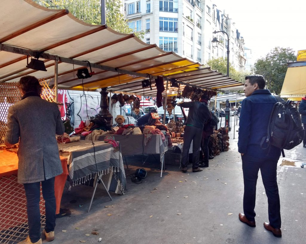 street market crafts autumn Paris