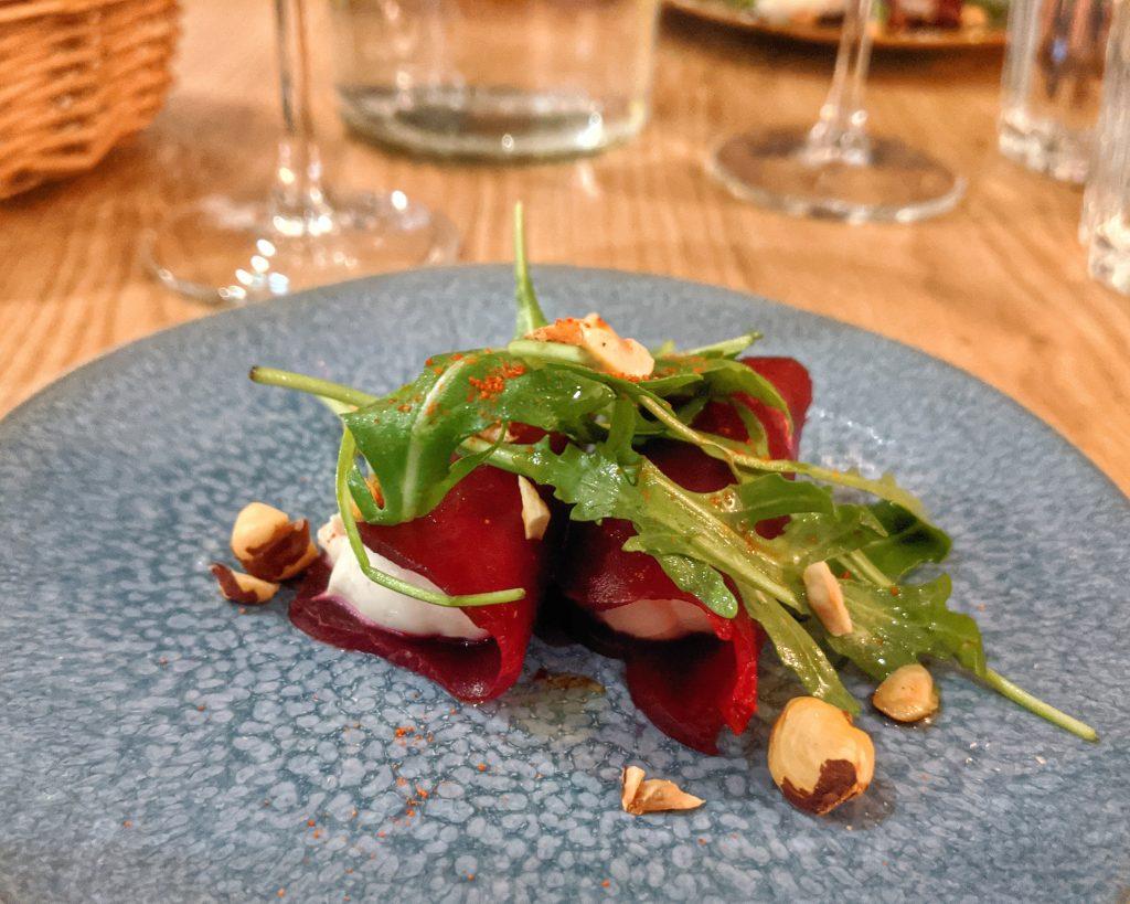 roasted beet ravioli vegan gluten free Paris