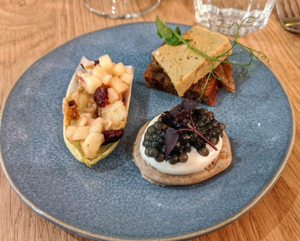 trilogy appetizer vegan gluten free Paris
