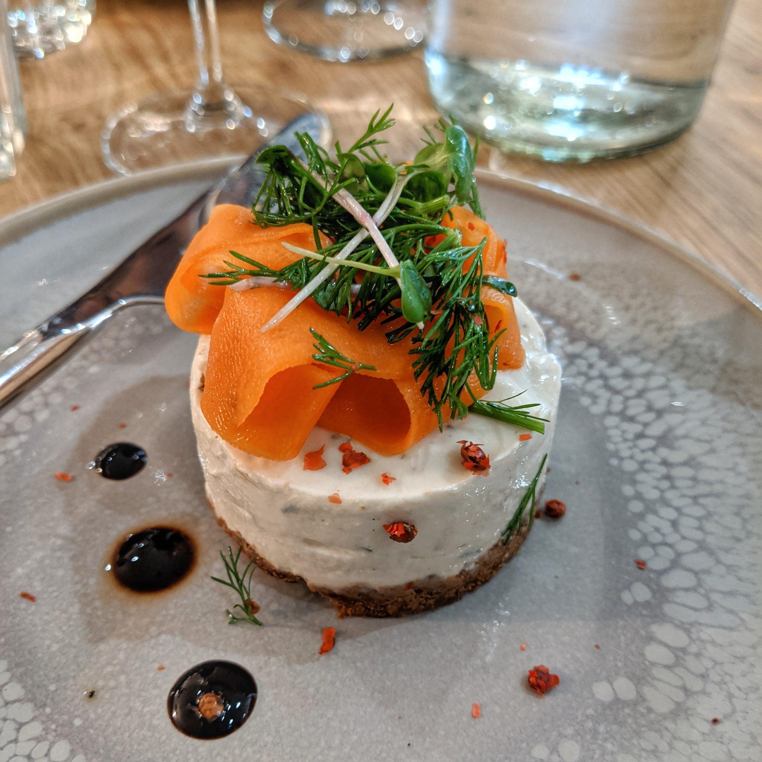 savory cheesecake vegan gluten free Paris ©2020 Octavio Fuentes
